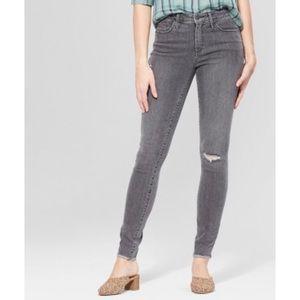 Universal Thread Grey Distressed Jeans 12/31 S